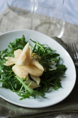 körtés rukkola saláta