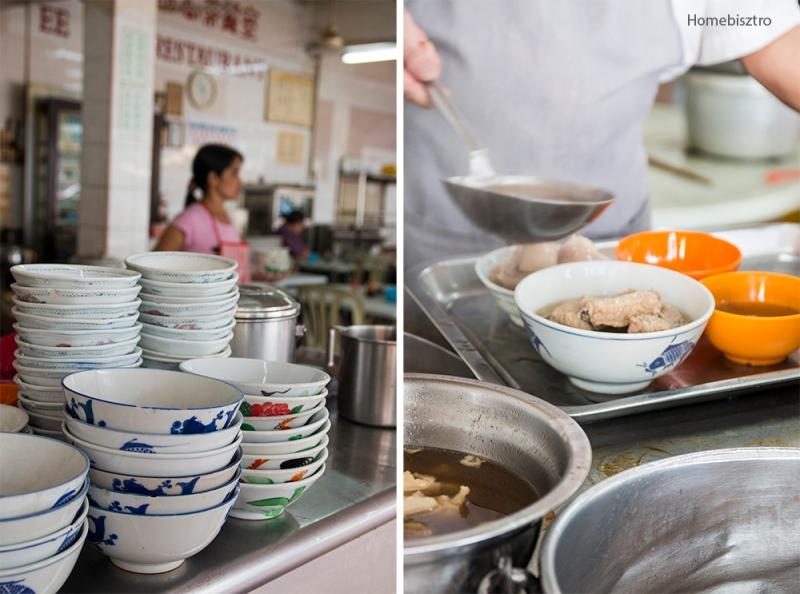 Kuala Lumpur 2014 reggel a wet market környékén. Már ehetjük a levest reggelire.
